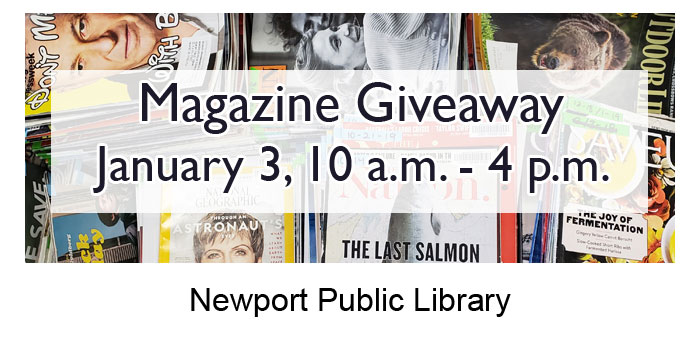 Magazine give-away at the Newport Public Library - January 3rd, 2020