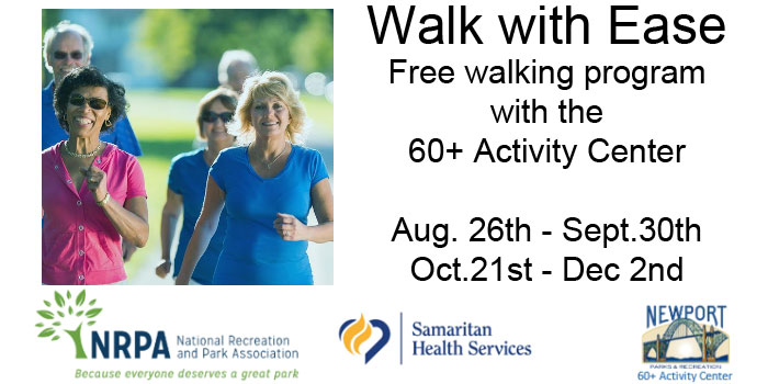 Walk with Ease - Free walking program with the 60+ Activity Center