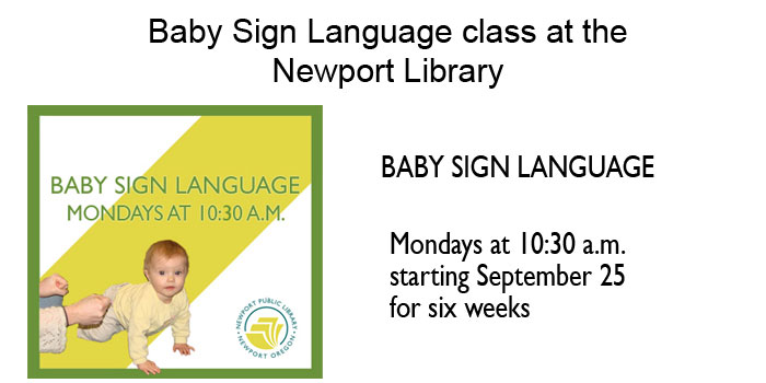 Baby Sign Language Class at the Newport Library