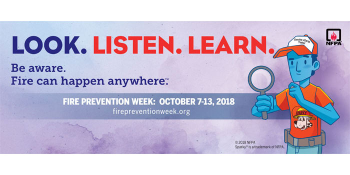 Fire Prevention Week - October 7-13th